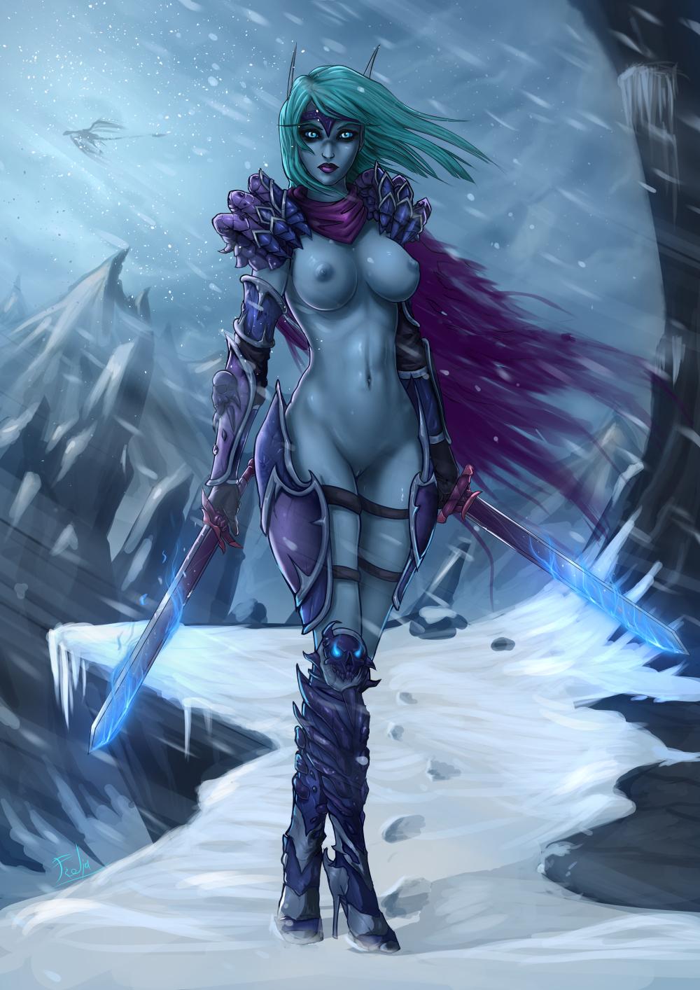 hentai blood warcraft elf of world Starfire justice league vs titans
