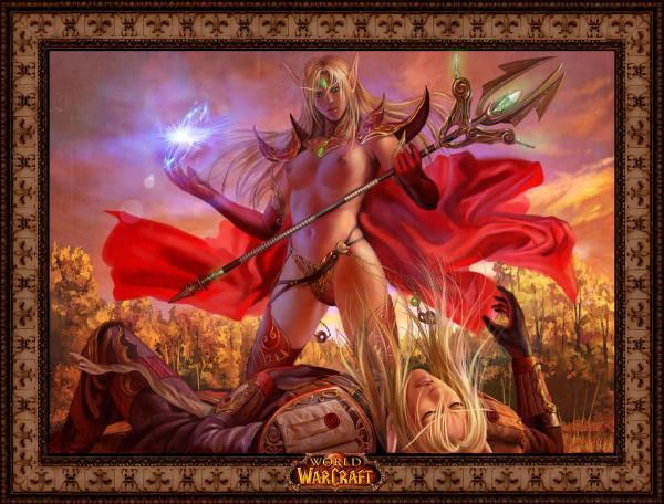 female demon hunter blood elf Zelda breath of the wild hentay