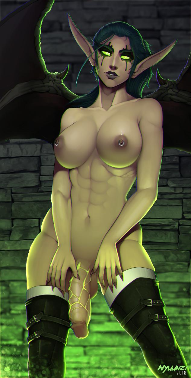 demon elf hunter blood female Elana, champion of lust