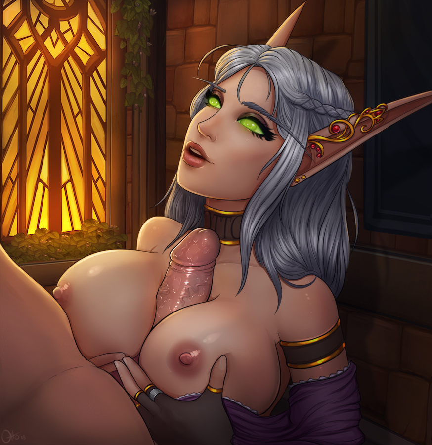 warcraft elf blood world hentai of Puzzle and dragons