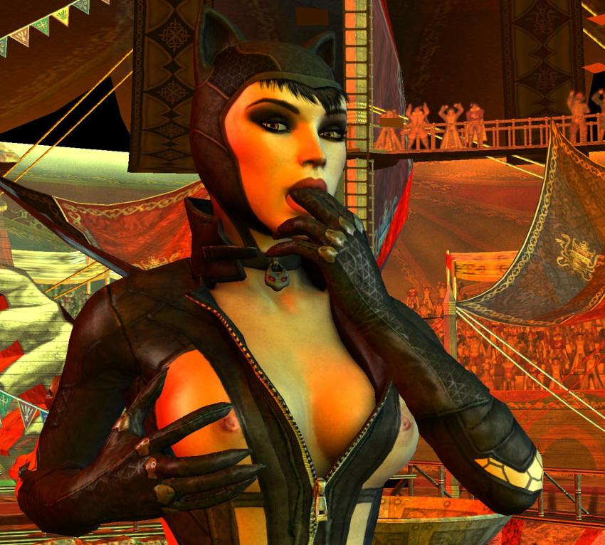 nude batman arkham catwoman city Furyou ni hamerarete jusei suru kyonyuu okaasan