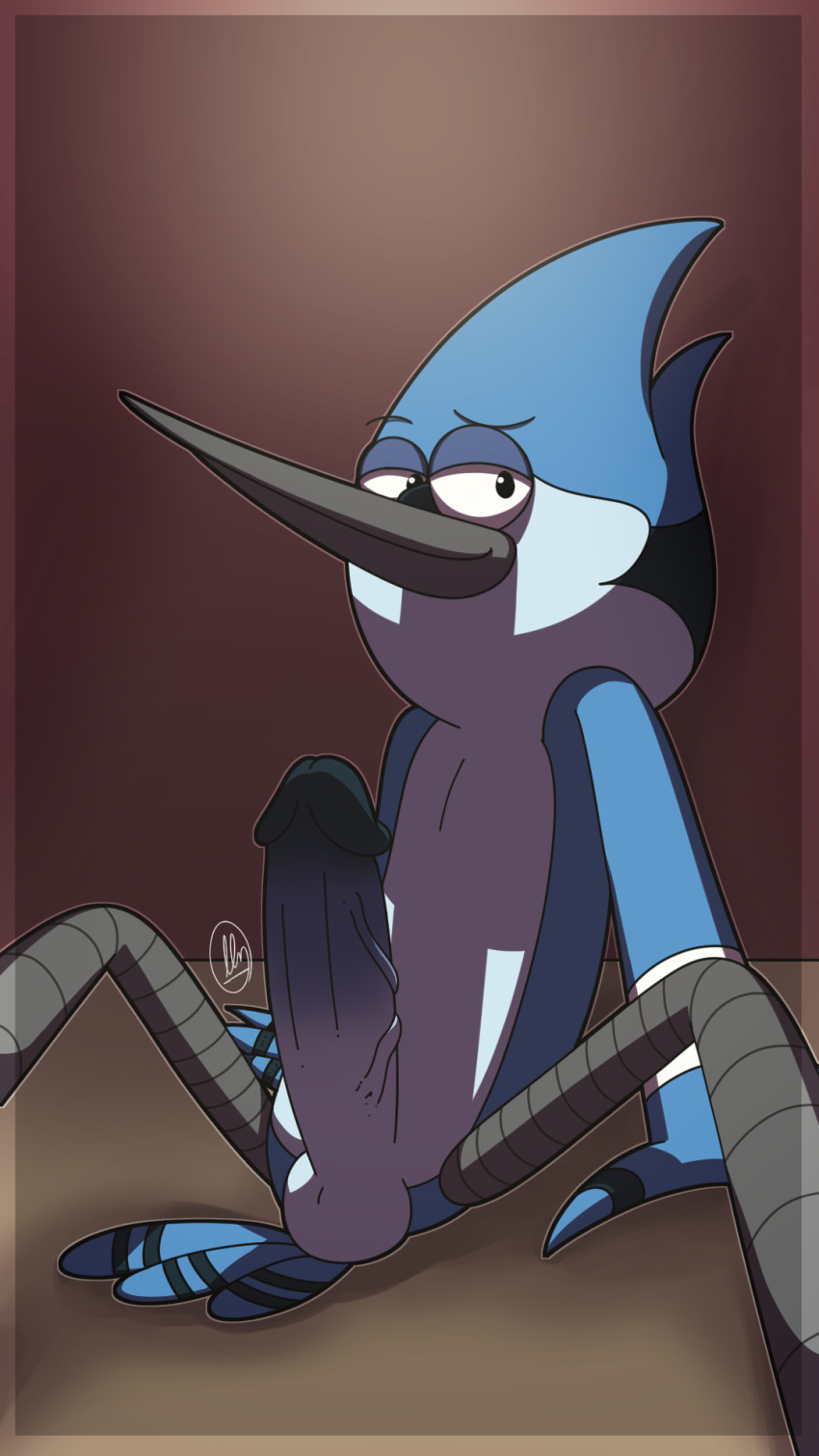 is regular mordecai from show what James the red engine angry